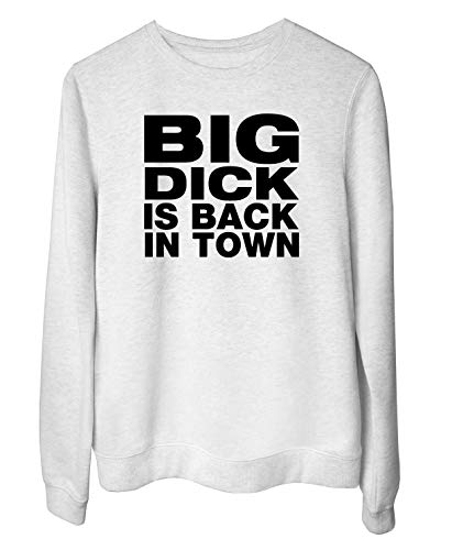 Sudadera Blanc para Las Mujeras Blanc FUN3745 Big Dick is Back in Town