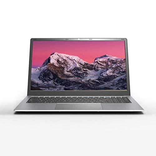 Notebook da 15,6 pollici per laptop sottile, Intel J4125, 8 GB di RAM, 128 GB SSD, sistema operativo Windows 10 Pro, bordo sottile, Full HD 1920 x 1080, argento Z24