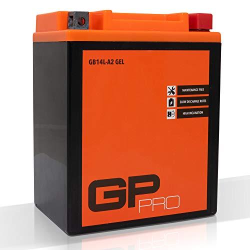 GP-PRO GB14L-A2 12V 14Ah GEL Batteria di avviamento (simile a YB14L-A2 / 51411) (Esente da manutenzione / Sigillato) Moto Accumulato