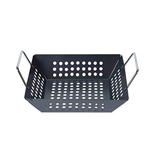 Grillkorb Grillschale BBQ Schale, Metall antihaftbeschichtet, ca. 31 x 23 x 10 cm, schwarz