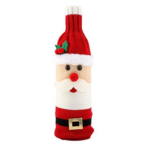 Cubierta de vino botella de vino vestido decoración mesa para fiesta de Navidad adorno de regalo de Navidad (hombre viejo)