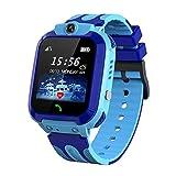Vannico Smartwatch Niños, Reloj Inteligente Niño IP68, LBS, Llamada Bidireccional, SOS Modo de Clase, Cámara, Juegos, Regalo para Niño Niña de 3-12 años (Azul) (Azul)