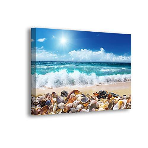 Ocean Starfish Sea Shell Beach Wall-Art - Canvas Art Wall-Decor - Wall Art 12 x 16 inches