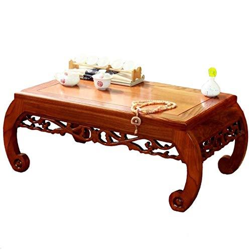 FENXIXI Mesa de Mirador pequeño Escritorio, Espacio Pantalla marrón salón Moderno Mesa