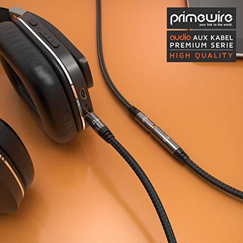 CSL - AUX Klinkenkabel Verlängerungskabel 1,5m mit Nylonmantel - Klinke auf Buchse 3,5 mm - Audiokabel - kompatibel mit Apple iPhones, iPads, Smartphones, Tablet PCs, Stereoanlage, Autoradio UVM.