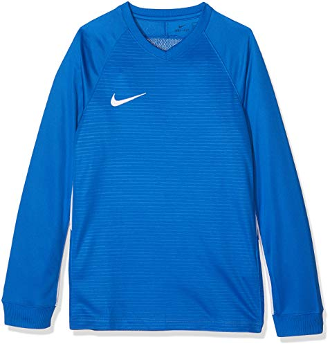 Nike Kinder Tiempo Premier Football Jersey Long Sleeved T-shirt, Blau (Royal Blue/White 463), L
