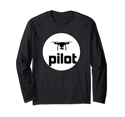 Drone Pilot Design für alle, die Drohnen fliegen Langarmshirt