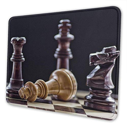 Alfombrilla de ratón para juegos - Alfombrilla de goma rectangular de ajedrez - Alfombrilla de ratón (3 mm de grosor) para soporte de regalo Ratón inalámbrico con cable o Bluetooth, 7,9 x 9,5 pulgadas