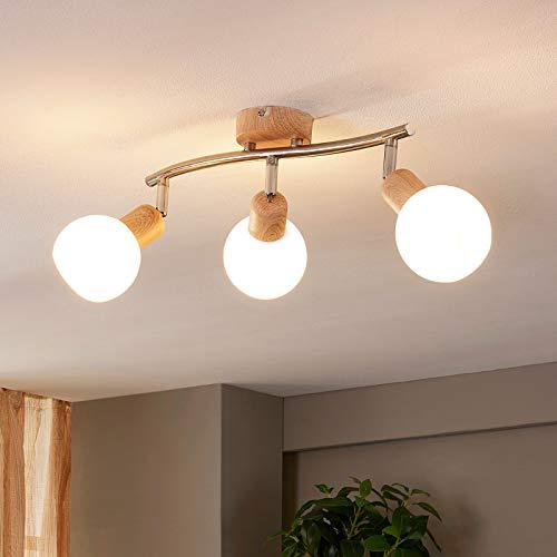 Lindby LED Deckenlampe 'Svenka' (Modern) aus Glas u.a. für Wohnzimmer & Esszimmer (3 flammig, E14, A+, inkl. Leuchtmittel) - Deckenleuchte, Wandleuchte, Strahler, Spot, Lampe, Wohnzimmerlampe