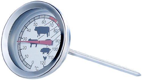 Rosenstein & Söhne Bratenthermometer analog: Analoges XL Fleisch- und Braten-Thermometer (Fleischtermometer)