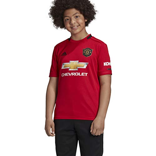 adidas Youth Soccer Manchester United Home Jersey (YL) Red