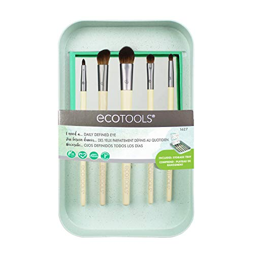 EcoTools Daily Defined Make-up-Set für Lidschatten, mit Ablageschale