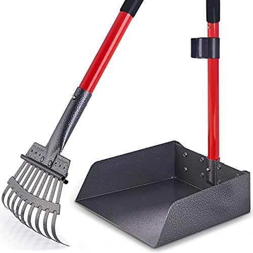 Pawler Bigger Dog Pooper Scooper for Large and Small Dogs, Easy to Use Rake and Tray Heavy Duty Set for Pets, Great for Lawns, Grass, Dirt, Gravel