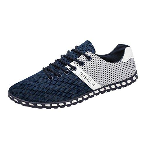 Sneakers Herren Schuhe Sportschuhe Stoffschuhe Basic Freizeit Schuhe Turnschuhe Laufschuhe Outdoor Schnürhalbschuhe Freizeitschuhe Boots Traillaufschuhe Turnschuhe Sportschuhe LMMVP (Blau, 43 EU)