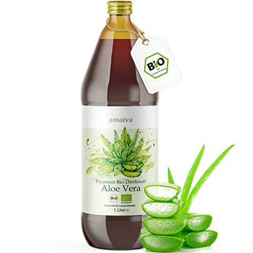 Aloe Vera Saft 100% BIO [NEU] - Einführungsangebot - Premium Qualität mit 1.200mg Aloverose, kontrolliert und abgefüllt in Deutschland