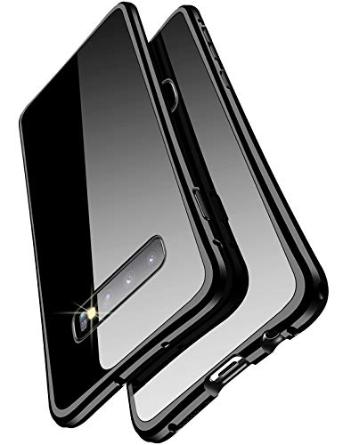 Galaxy S9 ケース 対応 docomo SC-02K uovon 高品質アルミ製フレーム+バックプレート スクラッチ保護 サムスンS9 カバー オシャレデザイン 最高レベル耐衝撃 au s9 ケース (Galaxy S9, レッド)