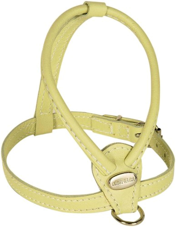 Petego La Cineopelca Soft Calfskin Teacup Dog Harness con Crystals, Sage, XS, RZ005 /B
