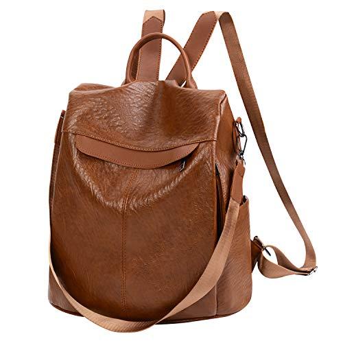 COOFIT Rucksack Damen Leder Anti-Theft Rucksack kleiner rucksack damen Schultasche Damen...