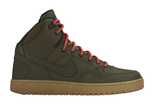 Nike Herren Son of Force Mid Winter Basketballschuhe, grün/orange/vergoldet/braun (Drk LDN/Drk LDN-blk-Brght Crms), 46 EU