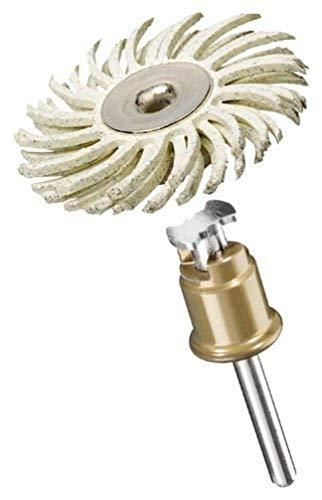 Dremel 472S SpeedClic Feinschleifbürste (Zubehörsatz für Multifunktionswerkzeug mit 1 Feinschleifbürste (Körnung 120) zum Entgraten, Reinigen und Polieren von Details in Kunststoff, Holz und Metall)