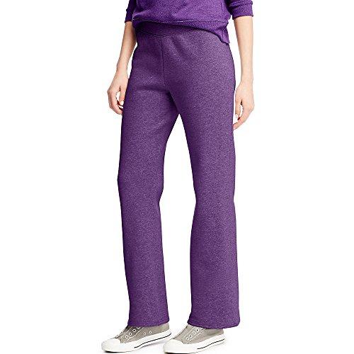 Hanes ComfortSoft Women's Petite Open Bottom Leg Sweatpant_Violet Splendor HTR_M