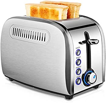 2 Slice Stainless Steel Toaster with Removable Crumb Tray