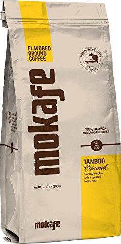 Mokafe Tanboo Caramel Flavored - Ground Organic Gourmet Coffee - Medium Roast Premium Haitian - 100% Exotic Arabica