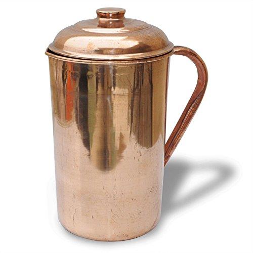 Cobre puro jarra (en/out) con tapa para 62oz Jarra Ayurveda Yoga Salud
