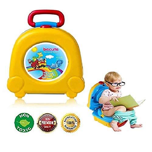 Tragbares Reisetopf-Urinal für Kinder, Baby-Töpfchen,Töpfchen-Training Toiletten-Sitz für Kinder,Kinder-WC Baby Kleine Toilette Kind Töpfchen Urinal (Gelb)