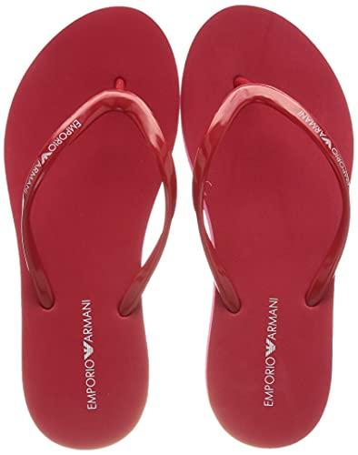 Emporio Armani Swimwear Flip Flop Essential, Ciabatte Infradito Donna, Poppy+White+Poppy, 36 EU