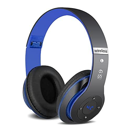 6S Wireless Cuffie Over-ear, Cuffie Bluetooth Cuffie Audio Hi-Fi Auricolare wireless Cuffia Cuffie Wireless Pieghevole ad Alta Fedeltà, Micro SD TF