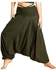 PANASIAM Aladdin Pants Unicolor I unisex-modell – 100 % naturlig viskos – behagligt mjuk & lätt I högkvalitativ gummikant – för permanent bekväm passform I Haremsbyxa