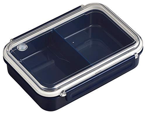 OSK 弁当箱 まるごと 冷凍弁当 ネイビー 800ml タイトボックス (仕切付) (日本製) PCL-5S