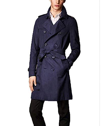 Willlly heren dubbele rijen windjack revers casual chic mantel mannen nner jas lange outwear lange mouwen slim fit business trenchcoat mantel