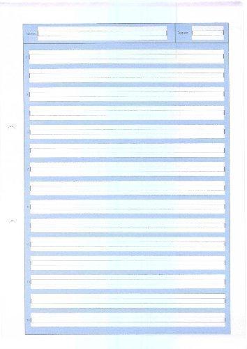 Schreibblock A4 Lineatur 2, 50 Blatt, 80g/qm, 2-fach gelocht, 2. Schuljahr (LIN2)