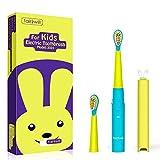 Spazzolino Elettrico per Bambini Fairywill Ricaricabile 3 Modalità con Indicatore Luminoso Spazzolino Sonico per Pulizia Dentale Timer con 1 Copertura Spazzolino da Denti 2 Testine di Ricambio