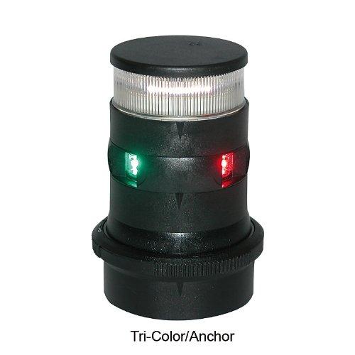 Aqua Signal 34706-7 Tri-Color/Anchor LED Navigation Light with Black Housing