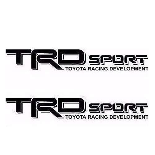 Calcomanías de vinilo de color negro con letras gráficas para camioneta lateral Tacoma 4X4, carreras de desarrollo de camiones, auto coche, diseño compatible para Toyota TRD Sport)