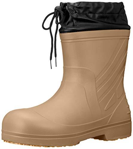 [キタ] 超軽量EVAラバーブーツカバー付き長靴 喜多 作業靴 長靴 レインシューズ 超軽量 EVAラバーショートブーツカバー付き KR-030 ベージュ 27.5~28.0 cm 3E