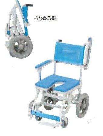 フランスベッド メディカルサービス シャワーキャリー 入浴用 車椅子 シャワースカールC O型シート