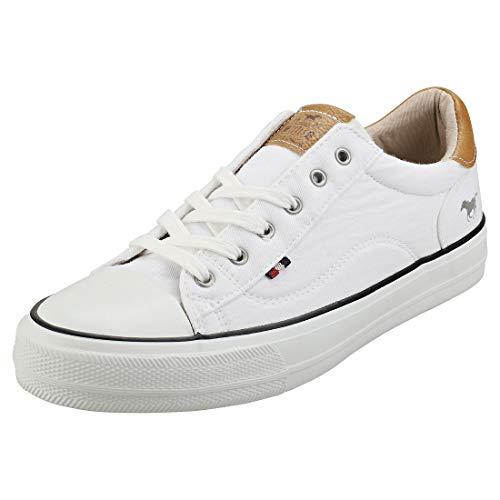 Mustang Damen 1272-301-1 Sneaker, Weiß (Weiß 1), 38 EU