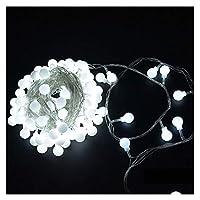 ロマンチック ホームHochzeitパーティーDekorationエリーゼ6M 10M 20M 30M 50M Girlande LED球ストリングリヒトChrismtasGlühbirne妖精文字列Dekorativeのlichter テラス (Color : White, Size : 6M 40LEDS)