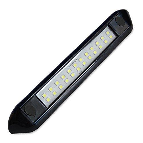 Dream Lighting LED Vorzeltleuchte Außenlampe für Wohnmobile Wohnwagen Anhänger Schwarze Schale IP66 Wasserdicht Kaltweiß 7000K
