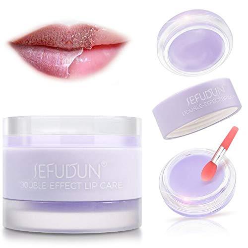 J TOHLO Lippenmaske Keratin Peeling Feuchtigkeitscreme Trockene und rissige Lippen Reparatur Mundmaske Lippenpflege Feuchtigkeitscreme Lippenpflege Schlafpeeling Maske (Lavendel)