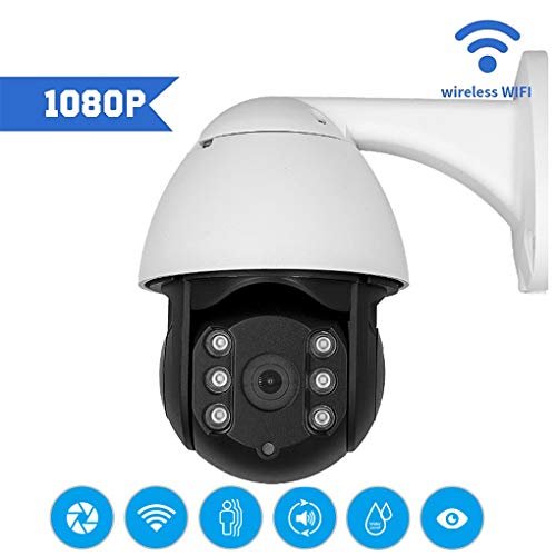 FTSUI IP-bewakingscamera, PTZ 1080p IP-camera, wifi, 360 outdoor-speed  dome draadloos netwerk bewakingscamera