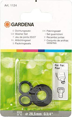 Gardena Dichtungs-Satz: Dichtungsring-Sortiment zum Austauschen alter Dichtungen, für die Gardena Hahnverbinder Art.-Nr. 18201 und 18241 (1124-20)