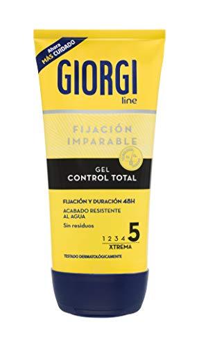 Giorgi Line - Gomina Control Total, Fijación y Duración 48h sin Residuos, Acabado Resitente al Agua, Fijación 5 Xtrema - 150 ml