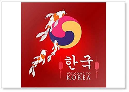 Kühlschrankmagnet Welcome to Korea, klassisch