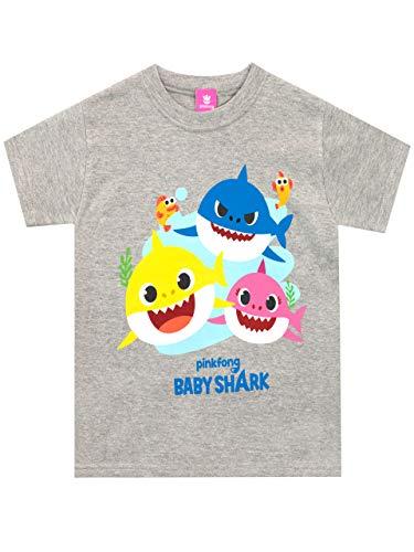 Pinkfong Boys' Baby Shark T-Shirt Grey Size