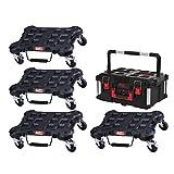 PAQUETE MILWAUKEE 4 carros planos - 1 maleta de transporte 62L Tamaño 3
